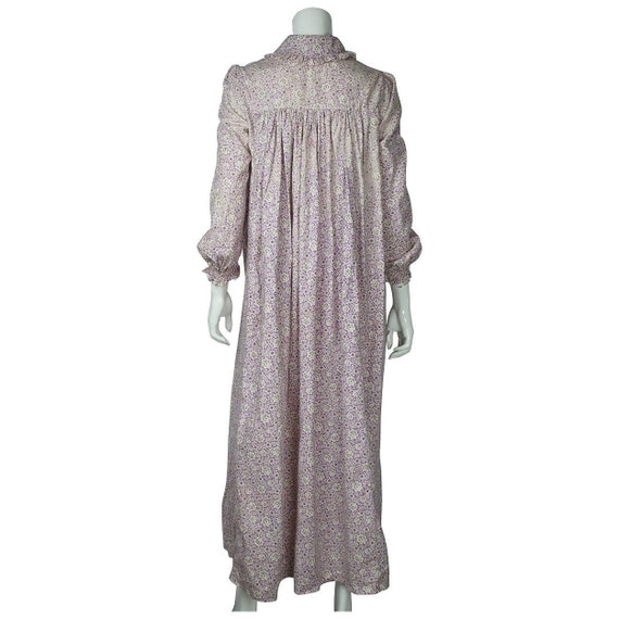 Antique 1800s Wrapper Dress Calico Floral Print P… - image 4