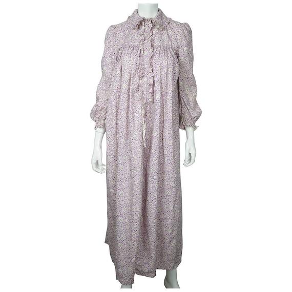 Antique 1800s Wrapper Dress Calico Floral Print P… - image 2