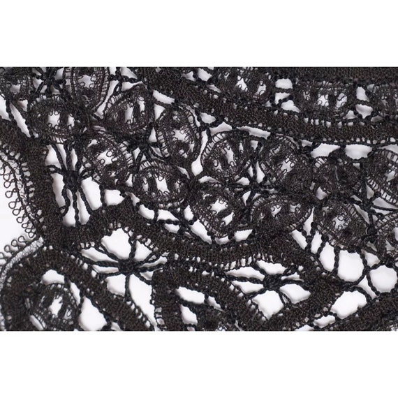 Victorian Black Lace Collar - Antique Hand Made L… - image 4