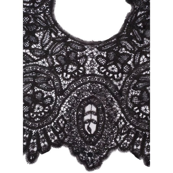 Victorian Black Lace Collar - Antique Hand Made L… - image 2