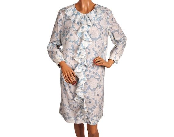 Vintage 1960s Mod Dolly Rocker Dress, Floral Print
