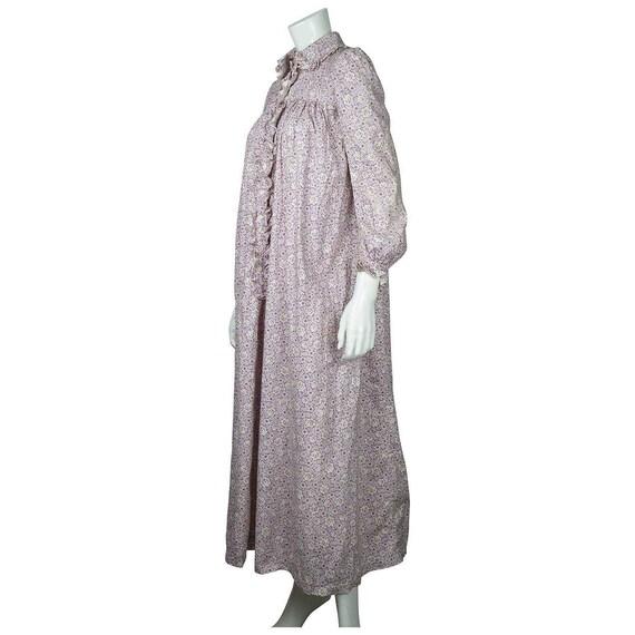 Antique 1800s Wrapper Dress Calico Floral Print P… - image 3