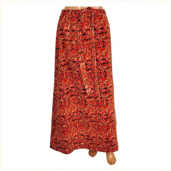 Vintage 1960s Lilly Pulitzer Maxi Skirt, Velvet Pr