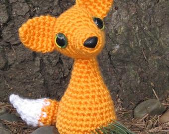 PATTERN - Crocheted Red Fox Amigurumi Animal Pattern