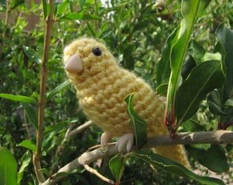 PATTERN - Canary or Song Bird Crochet Amigurumi
