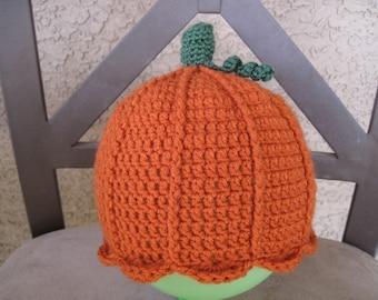 PATTERN - Crocheted Pumpkin Hat and Pumpkin Amigurumi