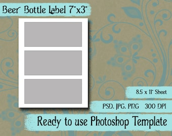 beer label template etsy