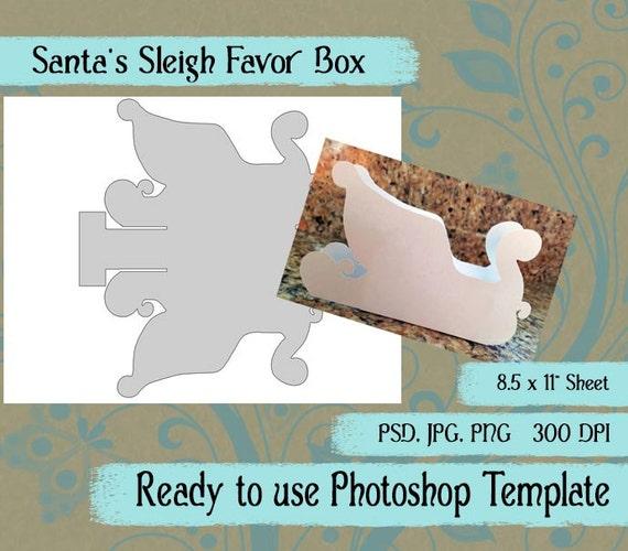 Digital Template Santa Sleigh DIY Digital Santa Sleigh Etsy