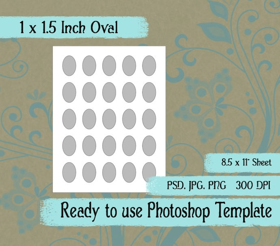 Scrapbook Digital Collage Photoshop Template 1 X 1 1 2 Inch Etsy