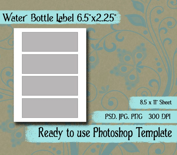 Scrapbook digital collage photoshop template water bottle etsy image 0 maxwellsz
