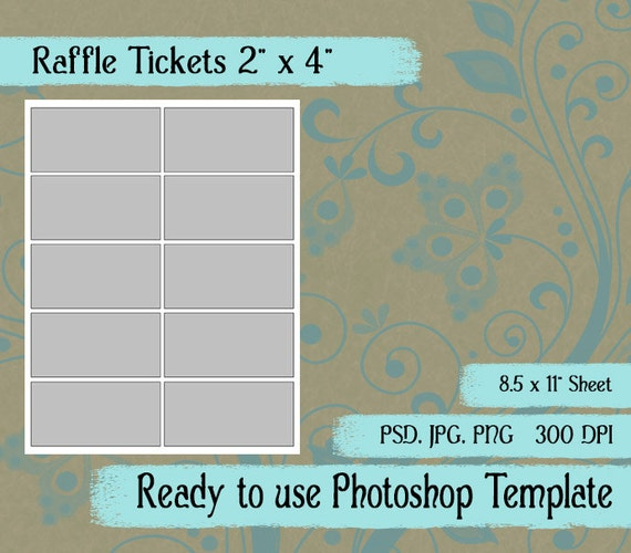 Digital template raffle ticket diy digital raffle ticket etsy image 0 maxwellsz