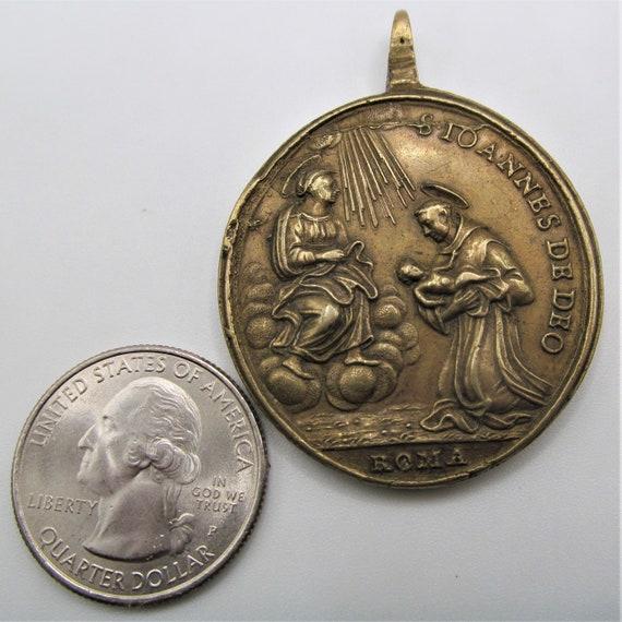 Saint Christopher Antique Religious Medal Sain Jo… - image 8