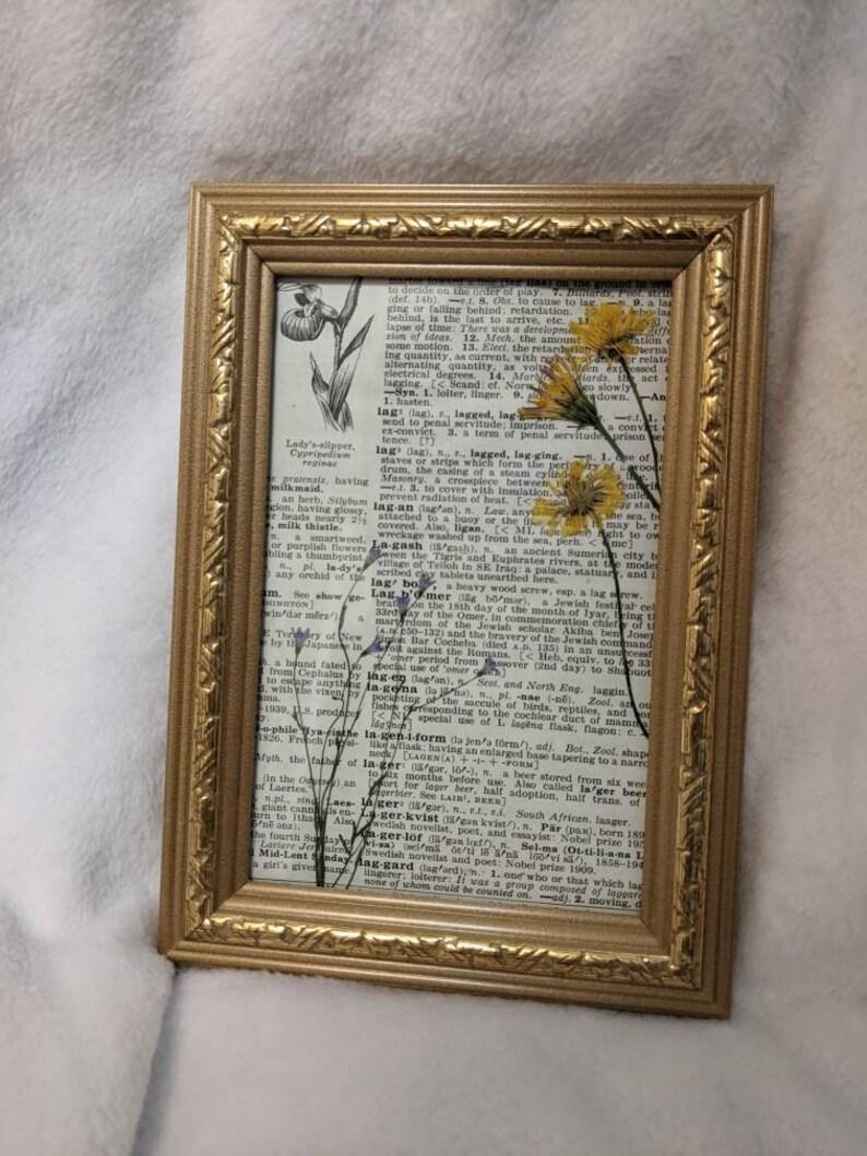 Upcycled Vintage Pressed Dried Flowers