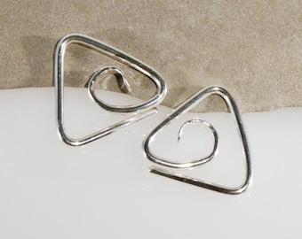 Sterling Silver 14 Gauge 16 Gauge Double Spiral Gauged Earrings Ear Gauges 14k Gold Fill Spiral Swirl Earrings Body Jewelry