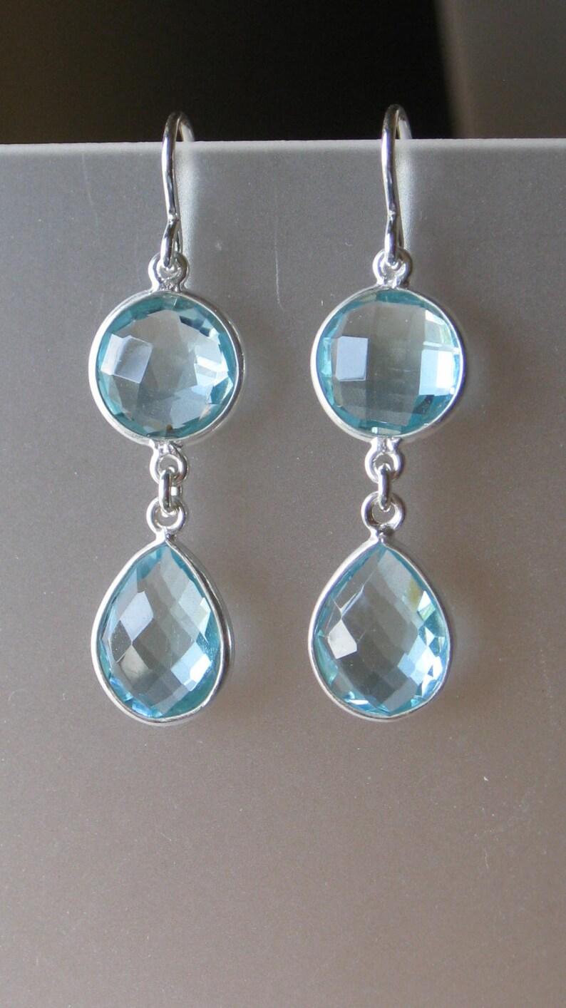 1df8b776ce40 Suizo de piedra doble bisel esterlina azul topacio plata
