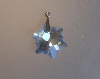 2015 Swarovski Ice Blue Crystal Snowflake Necklace