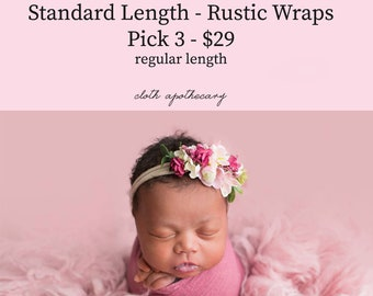 PICK any 3 Newborn Wraps, Baby Wraps Cheesecloth Wraps Photography Prop, Newborn Photo Prop