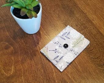 Gray Cactus Wallet Fabric Cloth