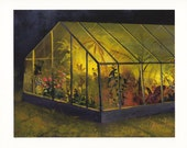 Greenhouse At Night - Archival Print