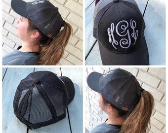 Monogram ponytail  8e39a0d19d4