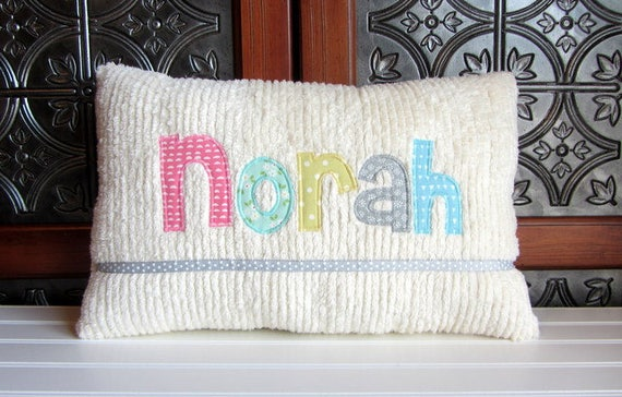 Personalized Baby Name Pillow for Girl