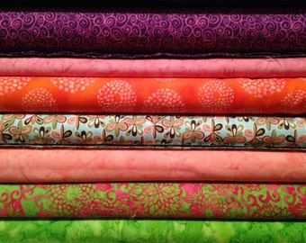 Fabric; Quilter's quality from high-end quilting store or manufacturer.  Mostly Robert Kaufman & Hoffman.