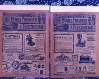 Model Engineer & Electrician 1911, Steampunk, 100 years old, Steam Engine, Publication