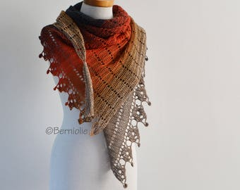 LEELOO, Crochet shawl pattern pdf