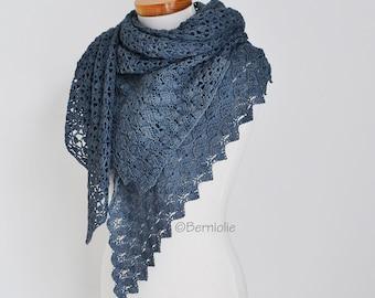 YINTHE, Crochet shawl pattern, pdf