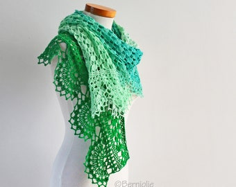 PEPPER, Crochet shawl pattern pdf