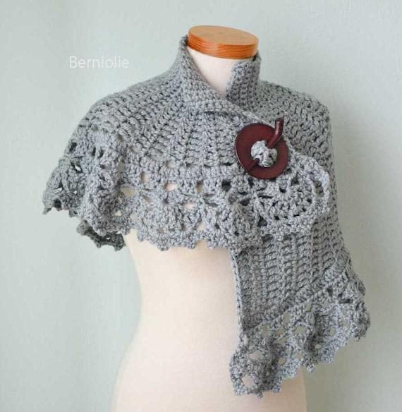 Hera Crochet Capelet Pattern Pdf Etsy