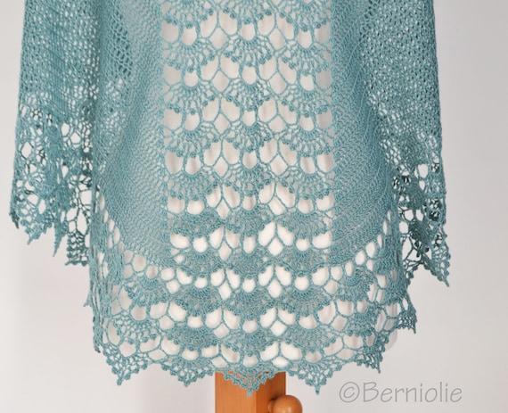 Spring Crochet Shawl Pattern Pdf Etsy
