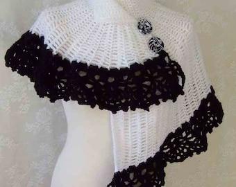 HELENA, Crochet capelet pattern pdf