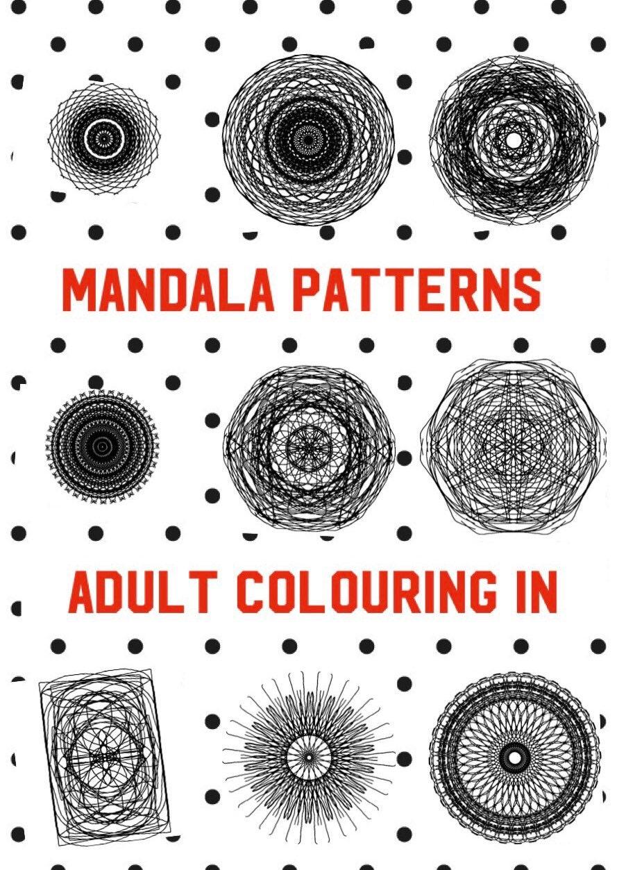 Printable Mindfulness Colouring Mandala A4 PDF Mindful In