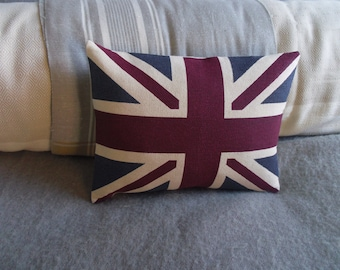 hand printed new little heritage union jack cushion