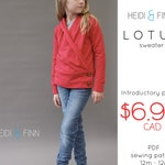 NEW Lotus Sweater PDF sewing pattern and tutorial 12m-12y wrap yoga sweater crossover top tunic jacket open sweater