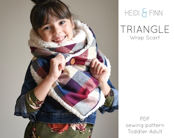 NEW Triangle Scarf wrap sewing pattern triangle wrap shawl scarves