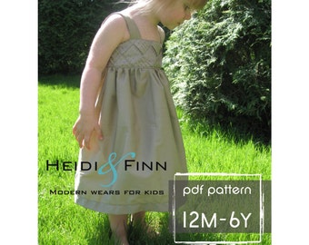 Garden Party Dress pdf pattern and tutorial 12M-6T easy sew