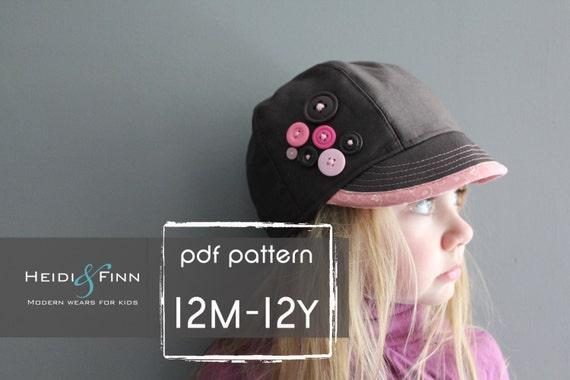 Uptown Hat Muster und Tutorial 12M-Teen einfach nähen PDF