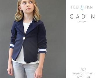 NEW Cadin knit blazer jacket sewing pattern and tutorial 12m-12y  holiday jacket suit coat bolero PDF