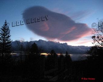 Scary Sierra Wave Cloud over Lassen County, California