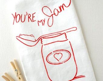 You're My Jam 100% Linen Tea Towel