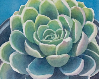 Succulent Watercolor Giclee Print