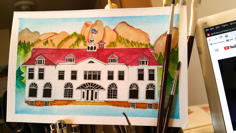 The Stanley Hotel In Estes Park Colorado Original Etsy