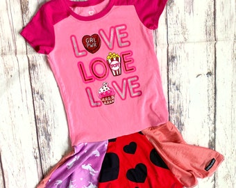 Size 6,LOVE love love Upcycled T-shirt Dress, ready to ship, Valentines, one of a kind