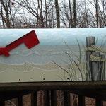 Hand Painted Sea grass  Mailbox, Beach Decor, great Housewarming Gift!