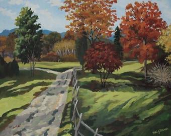 Autumn Painting Note Card, Art Card, blank card