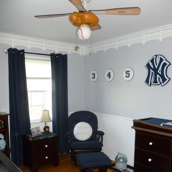 New York Yankees Home Decor: NY Yankee Stadium Stencil DIY Baseball Wall Decor Wall
