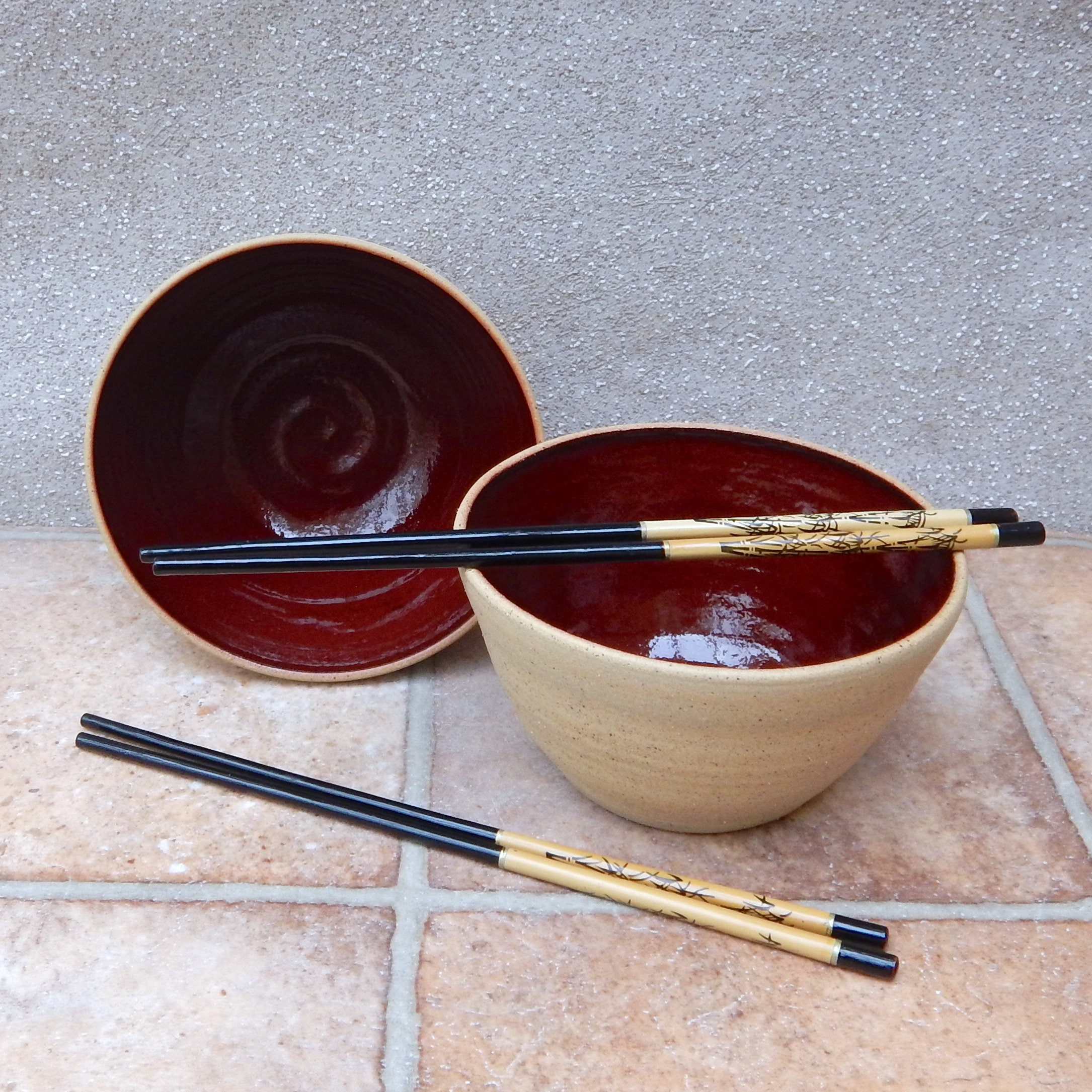 Noodle Or Rice Serving Bowl Wheel Thrown Stoneware Pottery Ceramic Handmade Handthrown Kitchen Dining Tableware