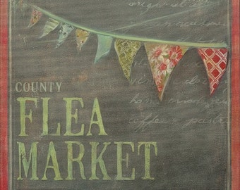 Flea Market 11x14 canvas gallery wrap